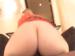 Apple bottom blond hottie Brianna Love has her tight asshole reamed from a well endowed guy