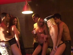 Adel & Alon & Anette Dawn & Julia Crow & Zanna in college chicks enjoy many big dicks inside of th.