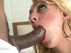 Blonde Latina Julia Fontanelli gets in her trimmed pussy by Roge Ferro