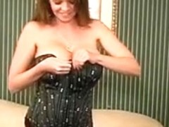 Gorgeous Busty MILF June Summers Masturbates