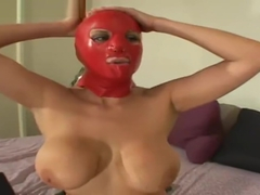 Alanah Rae in Latex Masks.