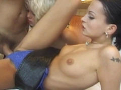 Sylvia Saint, Daniella Rush and Rocco Siffredi fuck threesome in bathroom