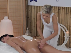 Exotic pornstars Marina H Afina, Tiffany Walker in Amazing Massage, Lesbian porn movie