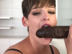 HannahBrooks Big Black Cock Unloads In My Mouth  in private premium video