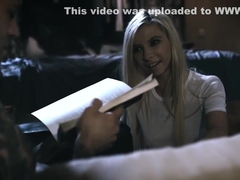 Trailer park trash stepsister teen forces the creampie