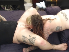 Punk Amputee Girl Spiroast with POV Cumshot