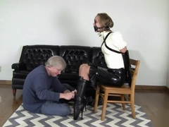 Ballet boots and armbinder combo
