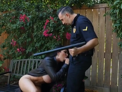 Thick bitch Romi Rain flashes the wrong guy