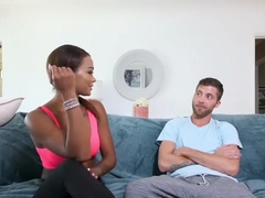 Sexy ebony fitness vlogger Harley Dean makes a sex tape