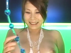 Busty slut Yuki Aida anal toy insertion