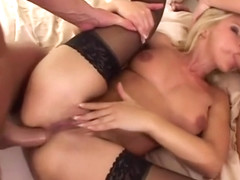 Incredible adult clip Double Penetration craziest , take a look