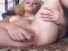 Racy breasty Shirley Dimples featuring hardcore sex video