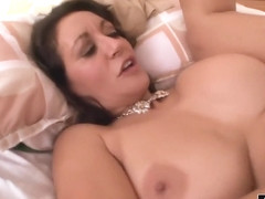 Fat cock penetrates her wet pussy