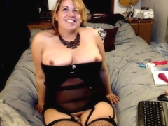 Garter, Stockings, and Big Tit Play
