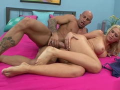 Horny And Hot Blonde Babe Rides Big Cock