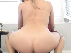 Kagney rides a dildo on the floor, more and more - Baberotica