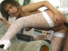 harlot Jewish Gwendolen fucks her gf Madeleine in the ass