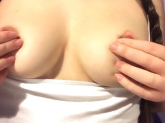 Teasing My Nipples With Ice - CC