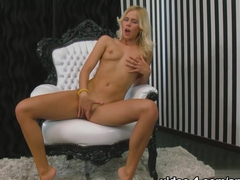 Fabulous pornstar Tracy Gold in Incredible Blonde, Masturbation porn scene