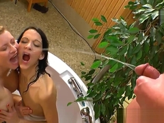 Watersports pissing sluts get soaked