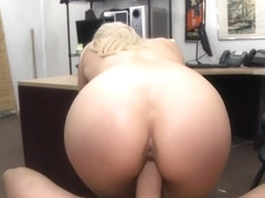Busty blonde stripper banged by pawn man