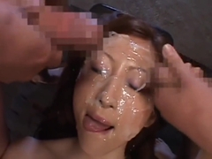 Japanese beauty - bukkake,creampie and urophagia in a continuous