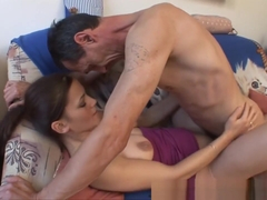 Sophia Torres deepthroat blowjob and rough outdoor sex