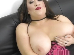 Bex horny busty babe instruction cum on her face