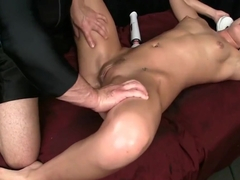 Sexy Babe Gets Erotic Oil Massage w/ Fucking