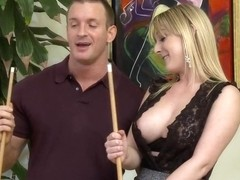Tristyn Kennedy performs some pool table baging with a dude