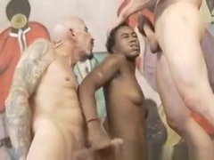 Two White Cocks Pounded In To Simone Styles Black Mouth