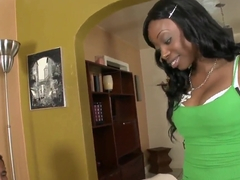 My new Ebony neighbor, Courtney Foxxx, came to visit me with wet and pleasant present