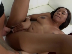 Ebony Indigo Vanity Receives White Cock In Cunt