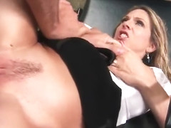 Unearthly platinum mom Angela Attison gives an amazing BJ