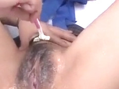 Horny sex scene Shaving watch show