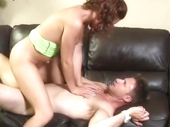 Nice red-haired Sasha Summers receiveing a cumshot on her face