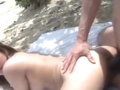 Superb sex at the beach threesome with Airi Minami