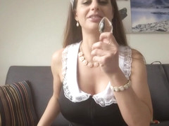 Cathy Heaven cleans this big black cock