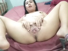 Pussy spreading and pee