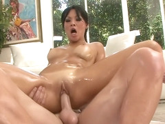 Asa Akira sex with oil