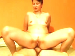 Horny chick with short hair anal