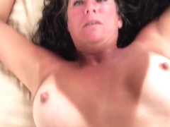 Big Tits Texas MILF with tan lines