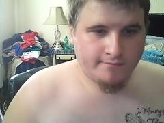 Juicy boy is jerking in the apartment and filming himself on camera