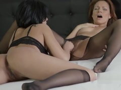 Silvia and Coco nailing cunt with vegetables