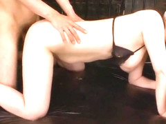 Submissive slut Kaoru Hirayama gets toyed and double teamed