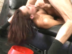 Crystal Rayne Gets Throated By two Big Dicks