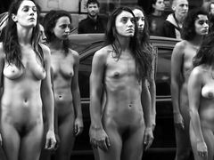 Nude protest in Argentina