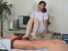 Nono Mizusawa Asian nurse is a hot milf with talented feet