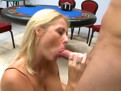 Winsome shaved experienced lady Dallas Diamondz is making a perfect Blowjob