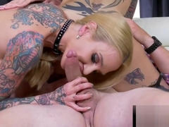 Anna Bell Peaks & Sarah Jessie sharing a Huge Young Cock